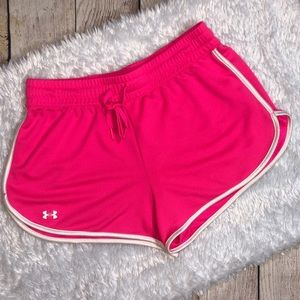 Under Armour Running Shorts Pink White Small